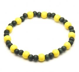 Kralen armband geel groen heren
