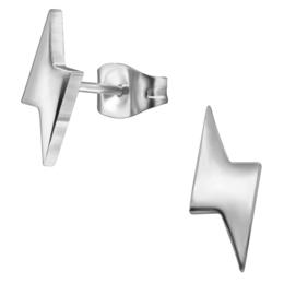 Oorbellen Bliksemschicht zilverkleurig Staal