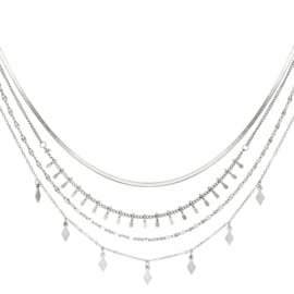 Ketting dames chirurgisch staal Multi Layered