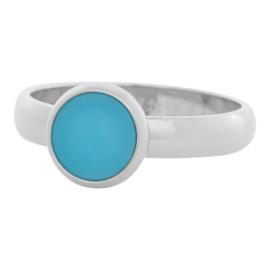 Mat Aqua stone ring mat zilver iXXXi JEWELRY