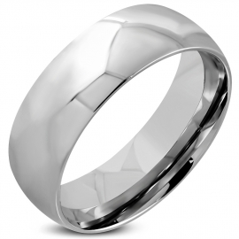 Zilverkleurige Stainless steel dames of heren ring  - Ringmaat 21
