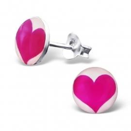 Zilveren hartjes oorbellen voor kids