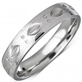 Trendy ring zilvekrleurig RVS man of vrouw  - Maat 19