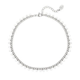 Armband Chirurgisch Staal zilver Lovely hearts