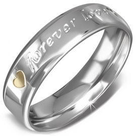 DAMES RING RVS | RVS DAMES RING Forever love - Maat 18