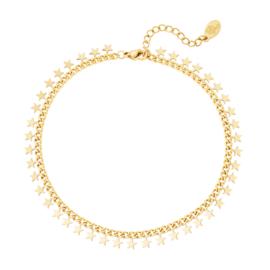 Armband Stainless steel goud beautiful Stars