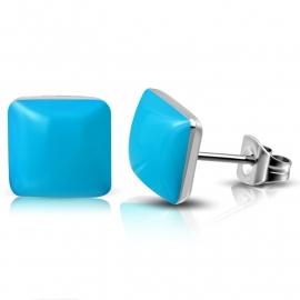 Blauw vierkant chirurgisch staal Oorstekers