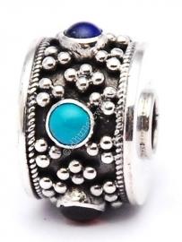 Bedel Bali multicolor | Bedel maximum zilver | Voor ketting