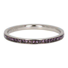 Tanzanite zirkonia ring iXXXi zilver kwaliteit juwelier - 2 mm