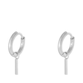 Oorbellen Chirurgisch Staal oorringen met hanger staafje