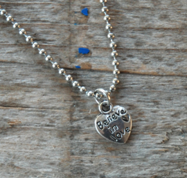 Believe in Love Ketting dames staal