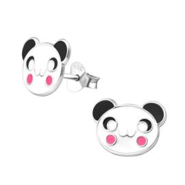 Dierenoorbellen Pandabeer voor kinderen 925 zilver