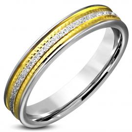 Chirurgisch staal ring zilver met goud