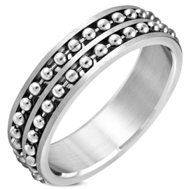 Ball chain ring heren - Ringmaat 23