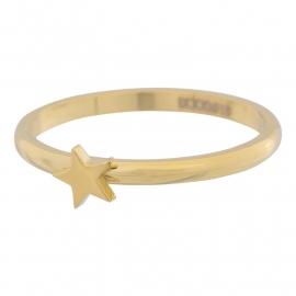 Goudkleurige stalen ring iXXXi Jewelry met ster