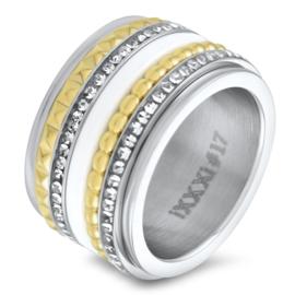 Turquoise zirkonia ring iXXXi zilver kwaliteit juwelier - 2 mm
