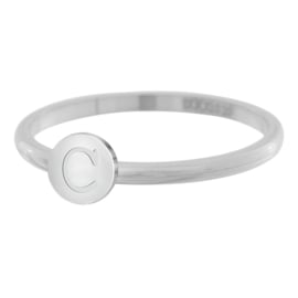 Smalle ring IXXXi Letter C zilver