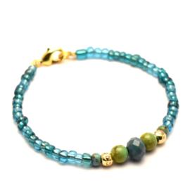 Turquoise dames kralen armband