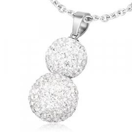 Stainless steel zirkonia pendant
