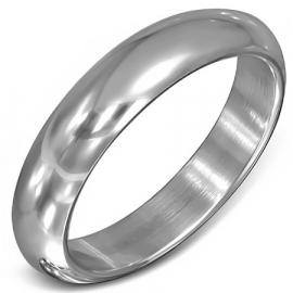 Gladde unisex ring staal zilverkleurig - Ringmaat 17