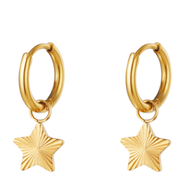 Sterren oorbellen chirurgisch staal goud oorringen