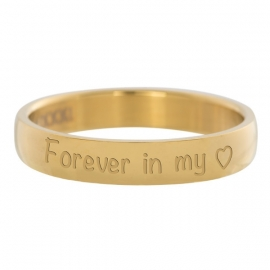 Forever in my heart ring goud - 4 mm