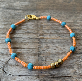 Beautiful summer bracelet gold orange