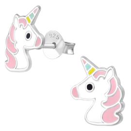 Eenhoorn - Unicorn zilveren kinderoorbellen