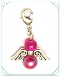 BESCHERMENGEL - BEDEL roze zilver