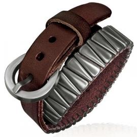 Bruine Leren armband met gesp