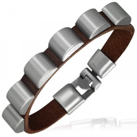 Lederen armband mannen met metalen sluiting