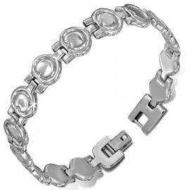 Zilverkleurige RVS armband met clipsluiting