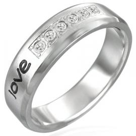 RVS edelstaal dames ring met tekst - maat 19