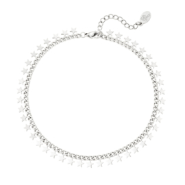 Armband Stainless steel zilver beautiful Stars
