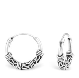 Bali Hoops 925 zilver - 12 mm