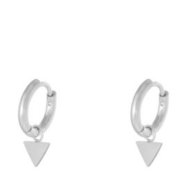 Oorbellen Chirurgisch Staal Triangle zilver