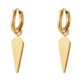 Little hoops oorbellen chirurgisch staal goud Cone shaped