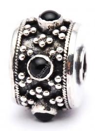 Bali bedel onyx maximum zilveren bedel