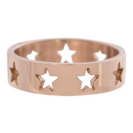 IXXXi Ring met sterren rosé goud