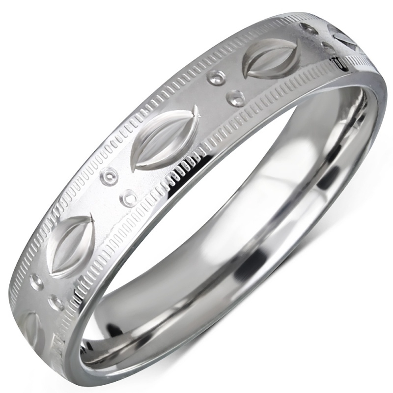 Trendy ring RVS vrouw  - Maat 17