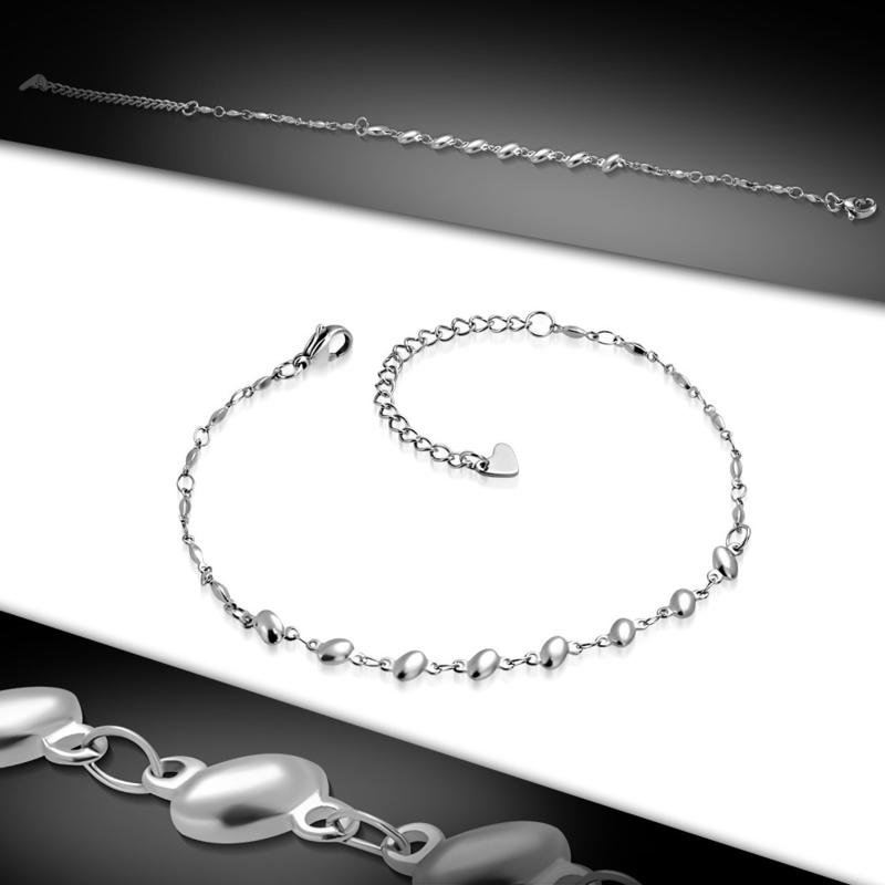 Fijne stalen zilverkleurige dames armband