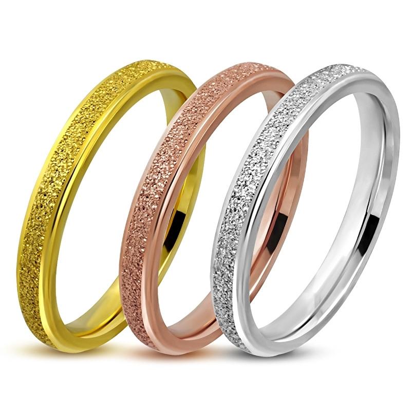 DRIE KLEUREN RING zilver goud en rosé goud | Ringmaat 17