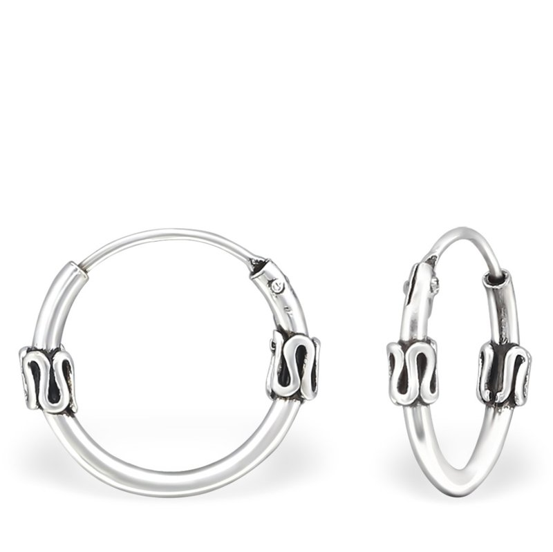 Bali Hoops 925 sterling zilver - 12 mm