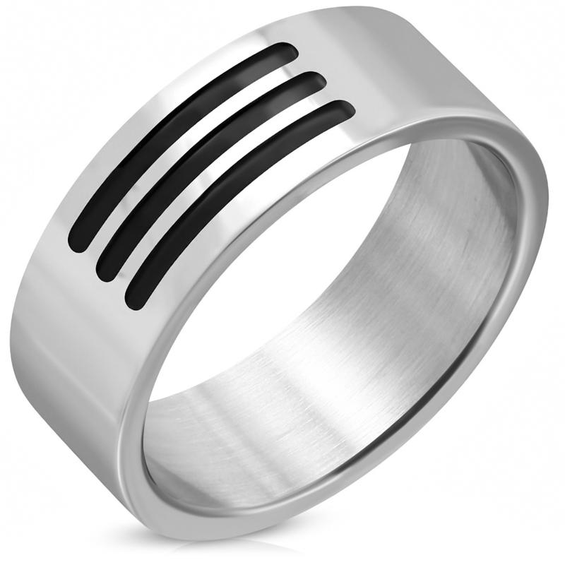 Ring heren Rvs mat zilverkleur - Maat 21