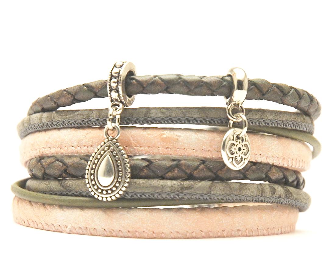 Collectie wikkelarmbanden dames