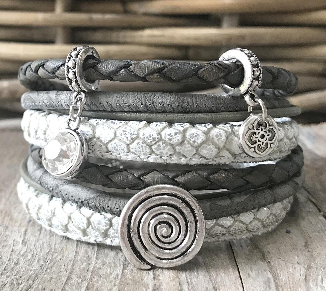 Wikkelarmband dames slangenprint
