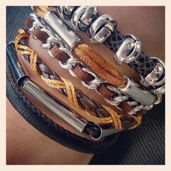 Ibizalook armband met magneetsluiting