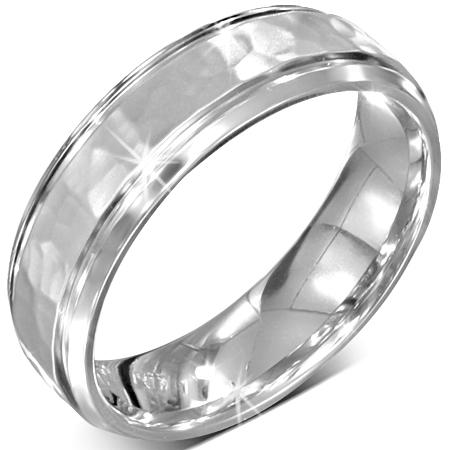 Stalen dames ring kleur zilver