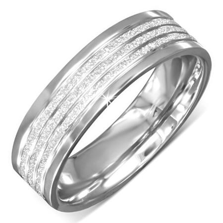 Ring edelstaal zilverkleurig ringmaat 16