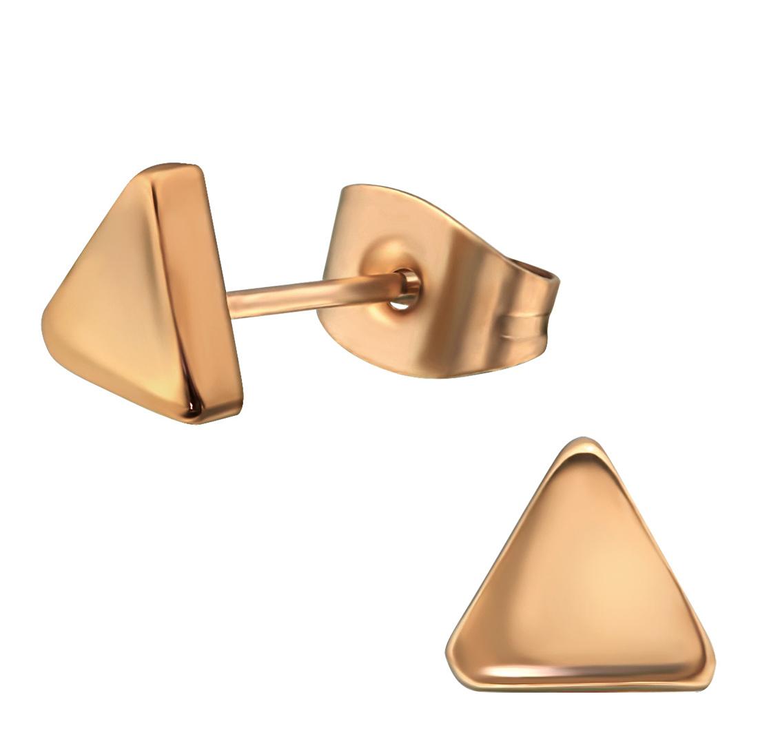 Stalen oorbellen driehoek